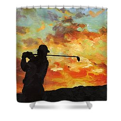 A New Dawn Shower Curtain by Catf