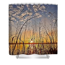 A New Day Begins ... Shower Curtain by Juergen Weiss