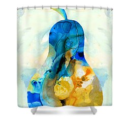 A Nice Pear - Abstract Art By Sharon Cummings Shower Curtain by Sharon Cummings