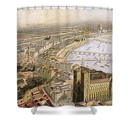 A Panoramic View Of London Shower Curtain by English School