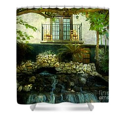 A Peaceful Night  Shower Curtain by Peggy  Franz