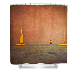 A Perfect Summer Evening Shower Curtain by Loriental Photography