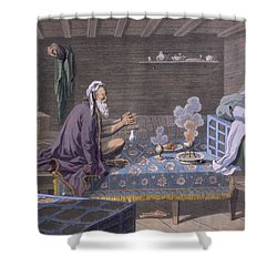A Persian Doing His Morning Prayers Shower Curtain by E. Karnejeff