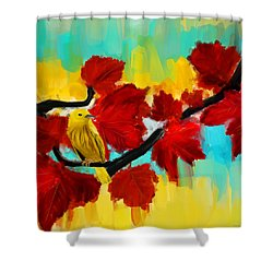 A Ponder Shower Curtain by Lourry Legarde