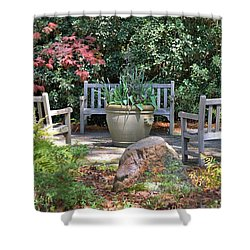 A Quiet Place To Meet Shower Curtain by Gordon Elwell