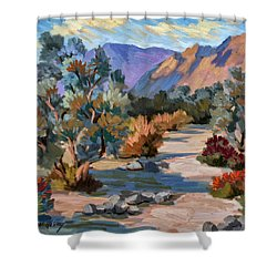 A Quiet Walk In Smoketree Forest Shower Curtain by Diane McClary
