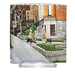 A Rest On Summerhill Avenue Shower Curtain by Reb Frost