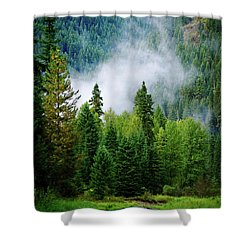 A River Runs Through It  Shower Curtain by Joseph Noonan
