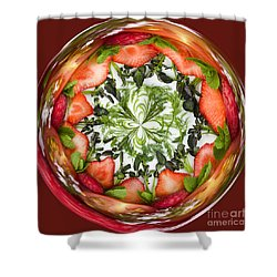 A Round Of Fresh Fruit Salad Shower Curtain by Anne Gilbert