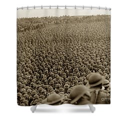 A Sea Of Helmets World War One 1918 Shower Curtain by California Views Mr Pat Hathaway Archives