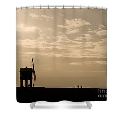 A Sense Of Perspective Shower Curtain by Anne Gilbert