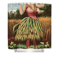 A Shweat Girl Shower Curtain by Aged Pixel