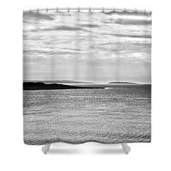 A Simple Welsh Coast Shower Curtain by Georgia Fowler