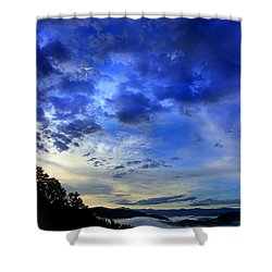 A Smoky Mountain Dawn Shower Curtain by Michael Eingle