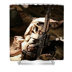 A Soldiers Friends Shower Curtain by Shoal Hollingsworth