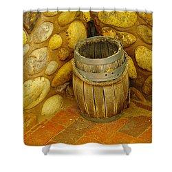 A Sole Barrel Shower Curtain by Jeff Swan