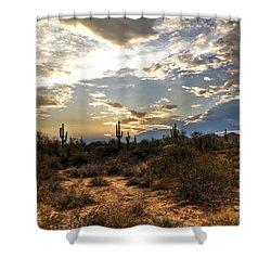 A Sonoran Desert Sunset  Shower Curtain by Saija  Lehtonen