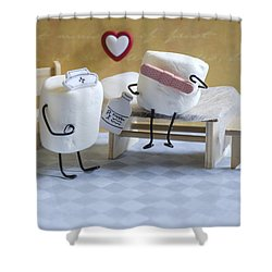 A Spoonful Of Sugar Shower Curtain by Heather Applegate