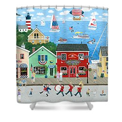 A Star Spangled Day   Shower Curtain by Wilfrido Limvalencia