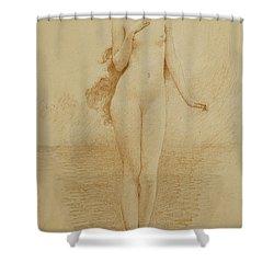A Study For The Birth Of Love Shower Curtain by Solomon Joseph Solomon