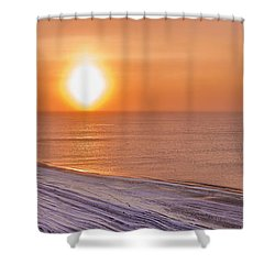 A Sundog Hangs In The Air Over The Shower Curtain by Kevin Smith