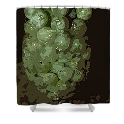 A Tall Glass Of Grapes Shower Curtain by Robert Margetts