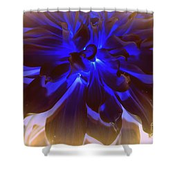 A Touch Of Blue Shower Curtain by Dora Sofia Caputo Photographic Art and Design