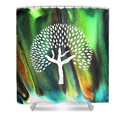 A Tree I Dreamt Of  Shower Curtain by Sumit Mehndiratta