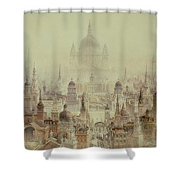 A Tribute To Sir Christopher Wren Shower Curtain by Charles Robert Cockerell