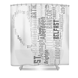 A Uk Cup Shower Curtain by Georgia Fowler