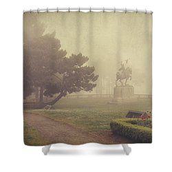A Walk In The Fog Shower Curtain by Laurie Search