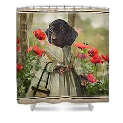 A Walk In The Garden Shower Curtain by Terry Fleckney