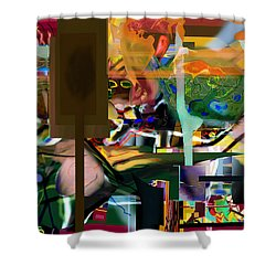 A Way To Bring The World To Tsheuvah 10 Shower Curtain by David Baruch Wolk