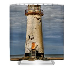 Abandoned Shower Curtain by Adrian Evans