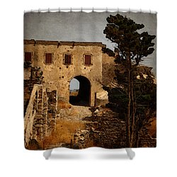 Abandoned Castle Shower Curtain by Christo Christov
