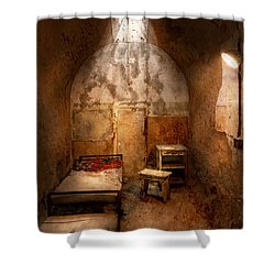Abandoned - Eastern State Penitentiary - Life Sentence Shower Curtain by Mike Savad