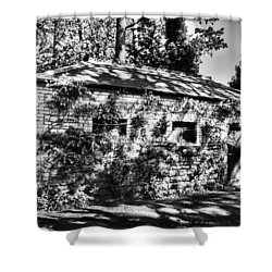 Abandoned Mono Shower Curtain by Steve Purnell