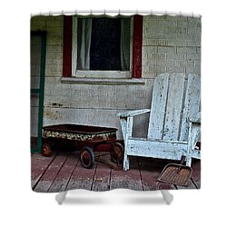 Abandoned Shower Curtain by Frozen in Time Fine Art Photography
