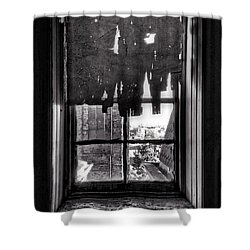 Abandoned Window Shower Curtain by H James Hoff
