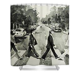 Abbey Road Shower Curtain by Bekim Art