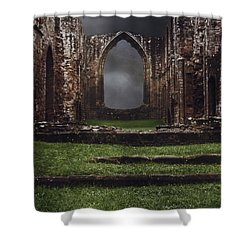 Abbey Steps Shower Curtain by Amanda And Christopher Elwell