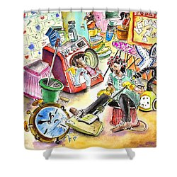 About Women And Girls 05 Shower Curtain by Miki De Goodaboom
