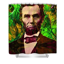 Abraham Lincoln 2014020502p68 Shower Curtain by Wingsdomain Art and Photography
