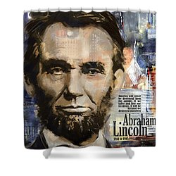 Abraham Lincoln Shower Curtain by Corporate Art Task Force