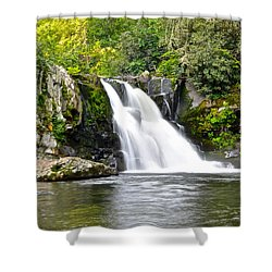 Abrams Falls Shower Curtain by Frozen in Time Fine Art Photography