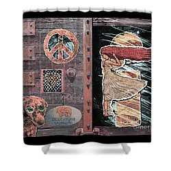Absinthe Night In Brussels Shower Curtain by Joseph J Stevens