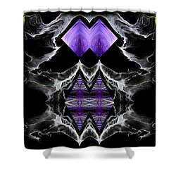 Abstract 136 Shower Curtain by J D Owen