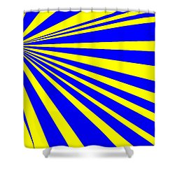 Abstract 150 Shower Curtain by J D Owen
