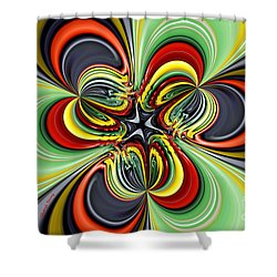 Abstract 301 Shower Curtain by Cheryl Young