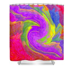 Abstract 44 Shower Curtain by Kenny Francis